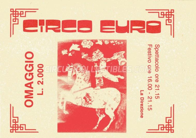 Euro Circus Ticket/Flyer -  0