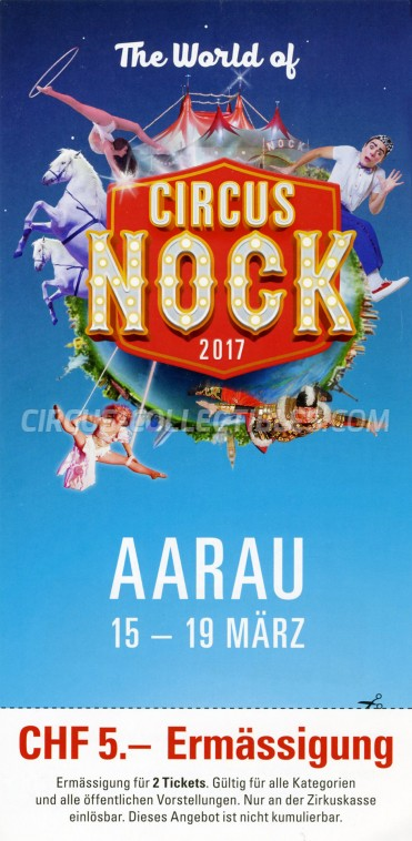 Nock Circus Ticket/Flyer - Switzerland 2017