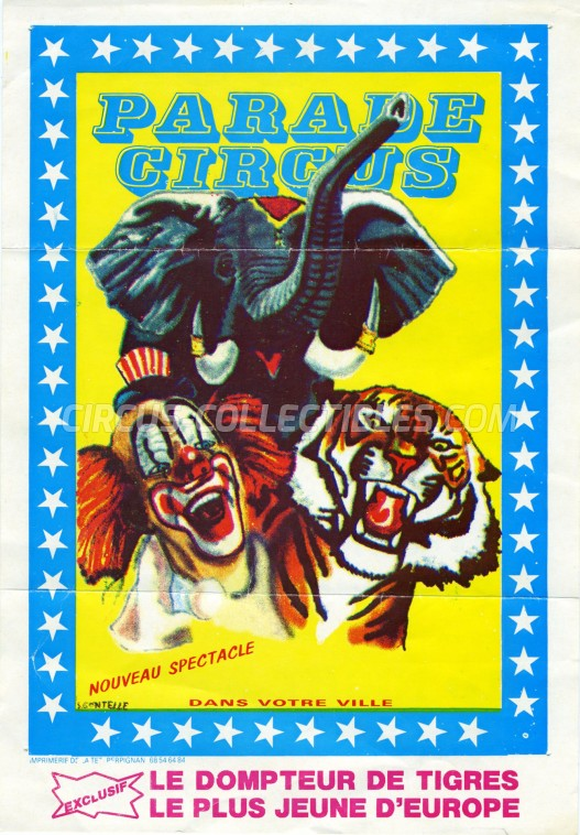 Parade Circus Circus Ticket/Flyer -  0