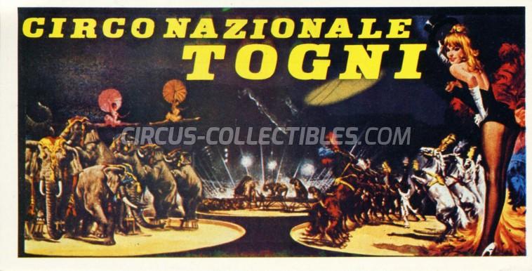 Circo Nazionle Togni Circus Ticket/Flyer -  0