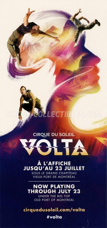 Cirque du Soleil Circus Ticket/Flyer - Canada 2017
