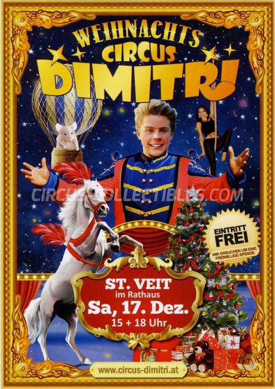 Dimitri Circus Ticket/Flyer - Austria 2016