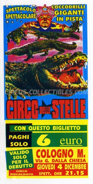Circo delle Stelle Circus Ticket/Flyer - Italy 2003