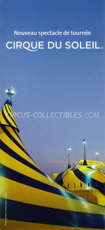 Cirque du Soleil Circus Ticket/Flyer - Canada 2009