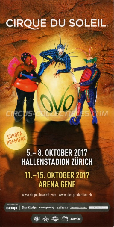 Cirque du Soleil Circus Ticket/Flyer - Switzerland 2017