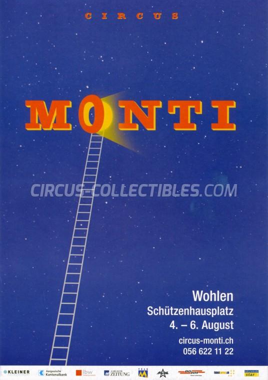 Monti Circus Ticket/Flyer - Switzerland 2017