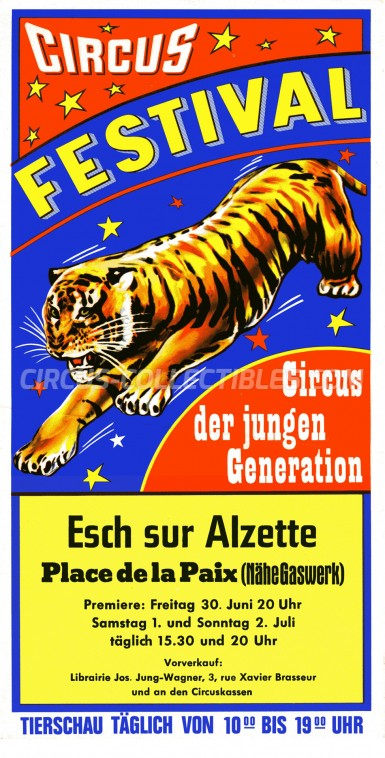 Circus Festival Circus Ticket/Flyer - Luxembourg 1978