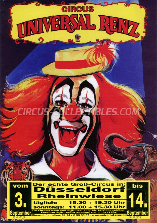 Universal Renz Circus Ticket/Flyer - Germany 2003