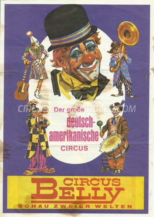 Belly Circus Ticket/Flyer -  1978