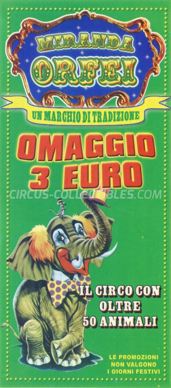 Miranda Orfei Circus Ticket/Flyer - Italy 0