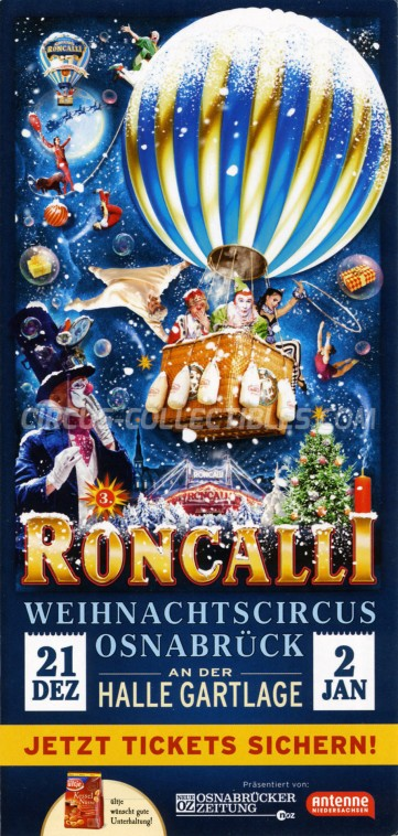Roncalli Circus Ticket/Flyer - Germany 0