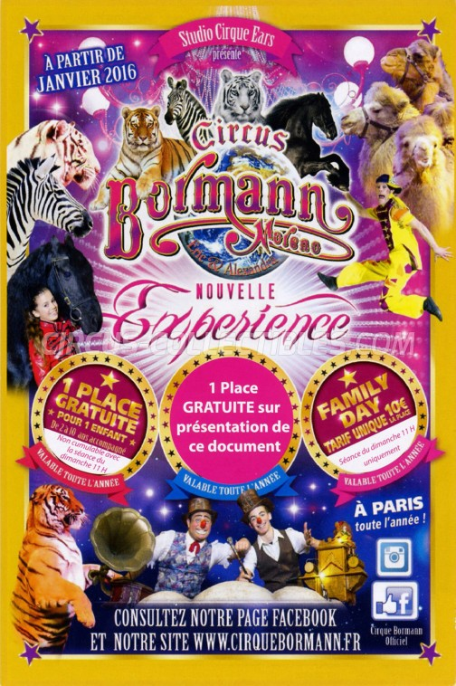 Bormann Moreno Circus Ticket/Flyer - France 2016