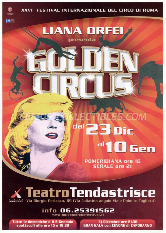 Liana Orfei Circus Ticket/Flyer - Italy 2010