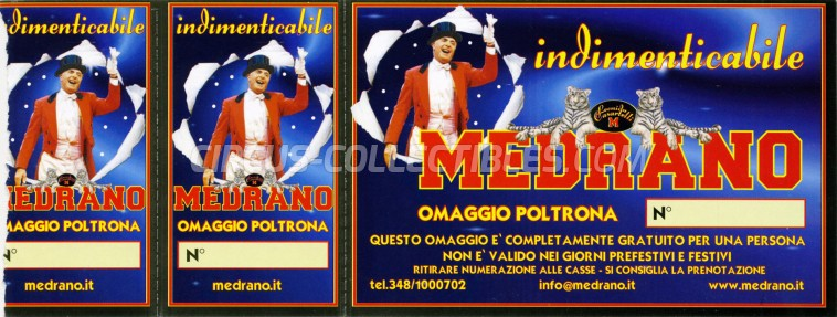 Medrano (Casartelli) Circus Ticket/Flyer -  0