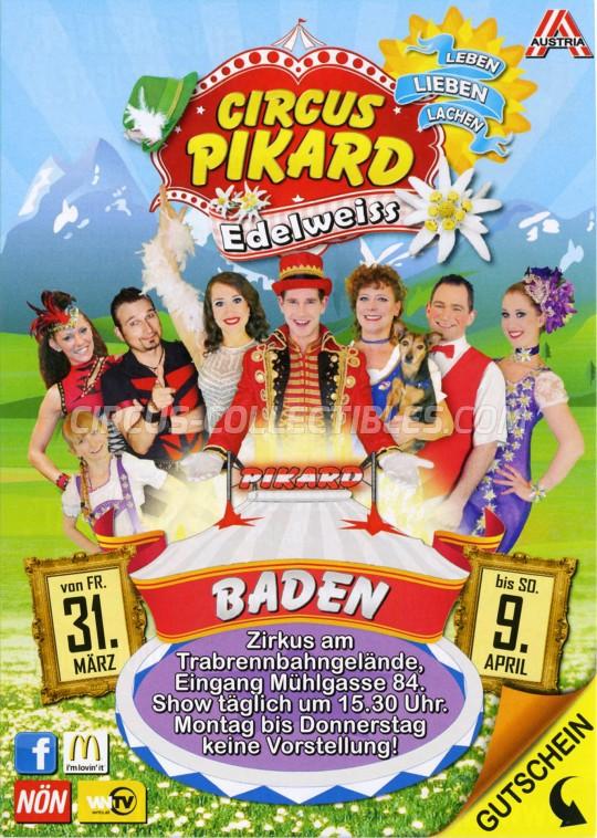 Pikard Circus Ticket/Flyer - Austria 2017