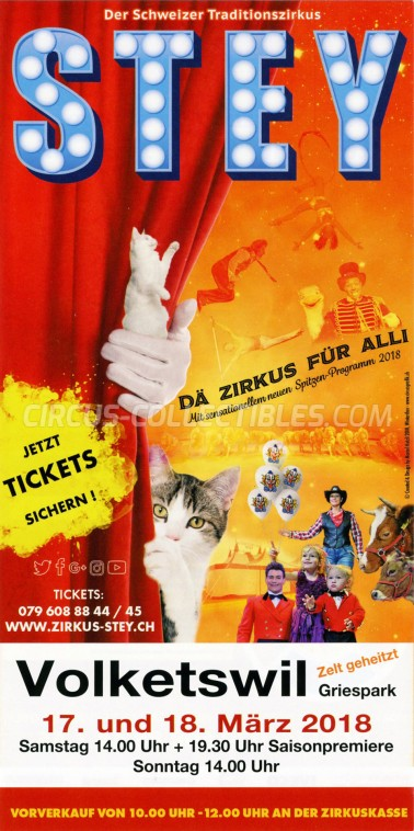 Stey Circus Ticket/Flyer - Switzerland 2018