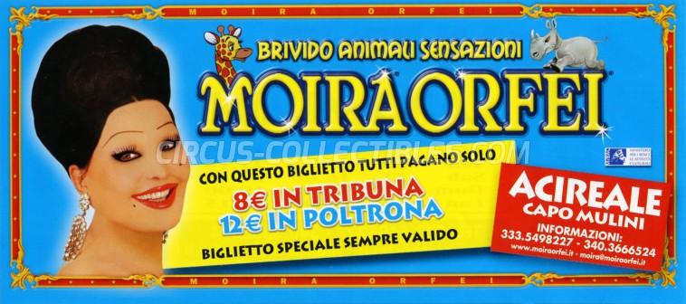 Moira Orfei Circus Ticket/Flyer - Italy 2008