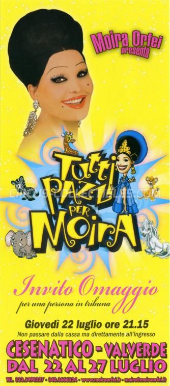 Moira Orfei Circus Ticket/Flyer - Italy 2010
