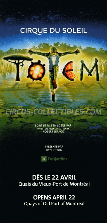 Cirque du Soleil Circus Ticket/Flyer - Canada 2010