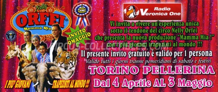 Orfei Circus Ticket/Flyer - Italy 2015