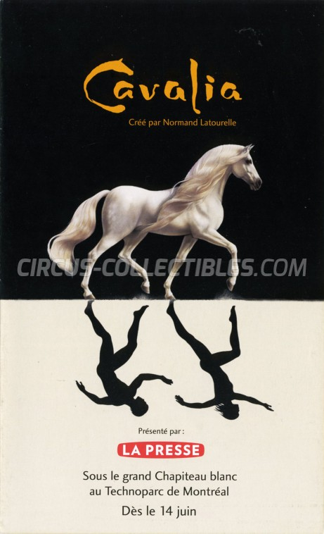 Cavalia Circus Ticket/Flyer - Canada 2005