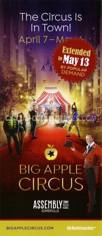 Big Apple Circus Circus Ticket/Flyer - USA 2018