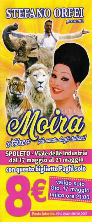 Moira Orfei Circus Ticket/Flyer - Italy 2018