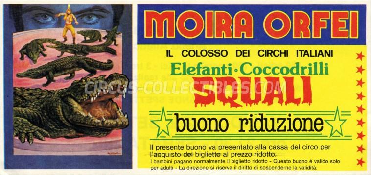 Moira Orfei Circus Ticket/Flyer - Italy 1986