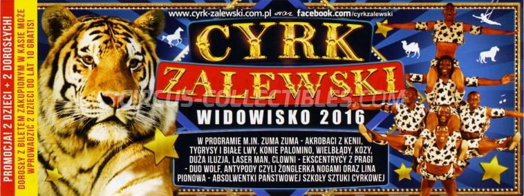 Zalewski Circus Ticket/Flyer -  2016