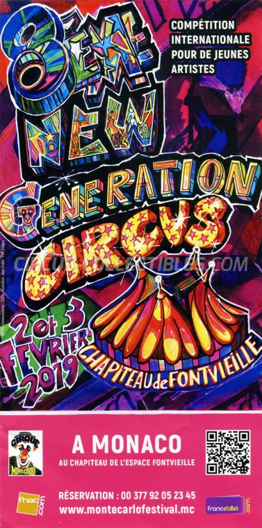 Festival International du Cirque de Monte-Carlo Circus Ticket/Flyer -  2019