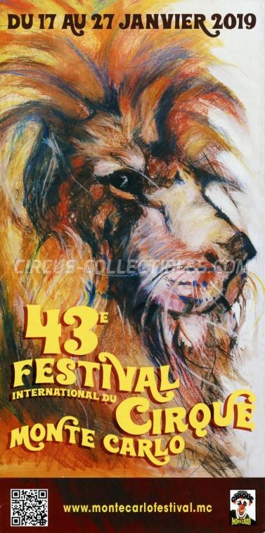 Festival International du Cirque de Monte-Carlo Circus Ticket/Flyer -  2019