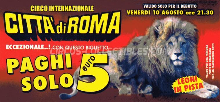 Citta' di Roma Circus Ticket/Flyer -  0