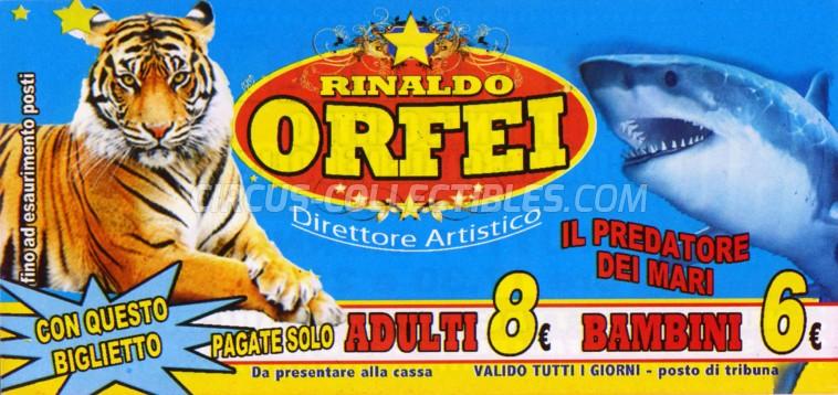 Rinaldo Orfei Circus Ticket/Flyer - Italy 2013