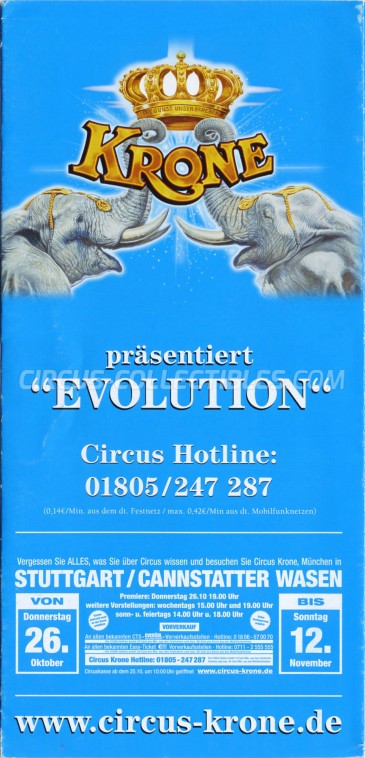 Krone Circus Ticket/Flyer - Germany 2017