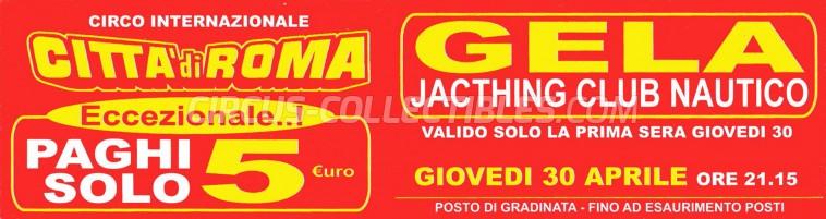 Citta' di Roma Circus Ticket/Flyer - Italy 0