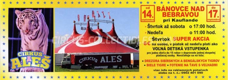 Aleš Circus Ticket/Flyer - Slovakia 2017