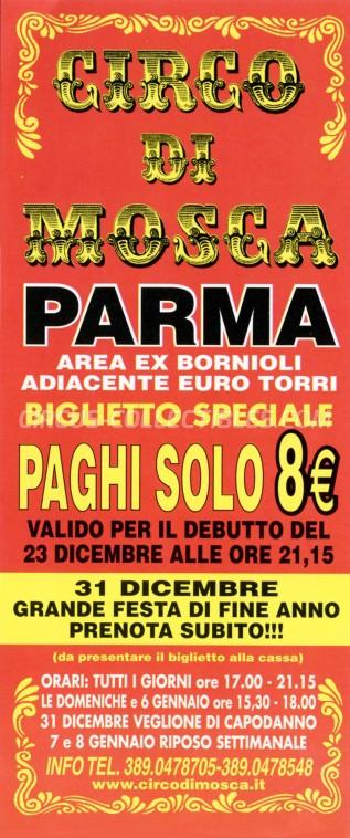 David Orfei Circus Ticket/Flyer - Italy 2014