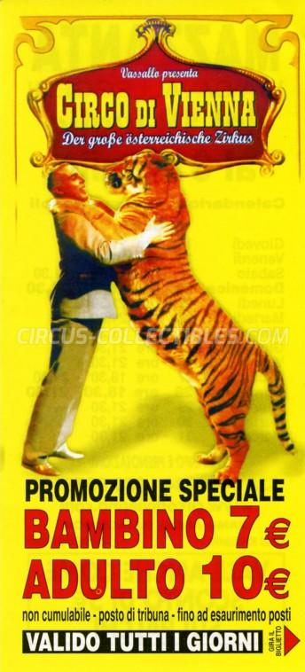 Circo di Vienna Circus Ticket/Flyer - Italy 2013