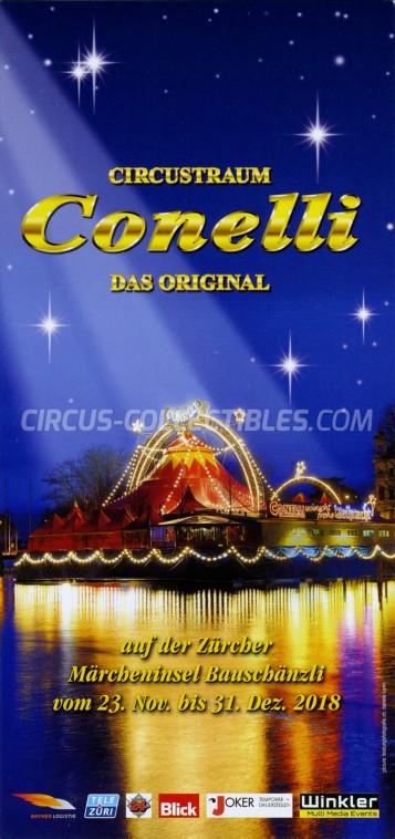 Conelli Circus Ticket/Flyer - Switzerland 2018