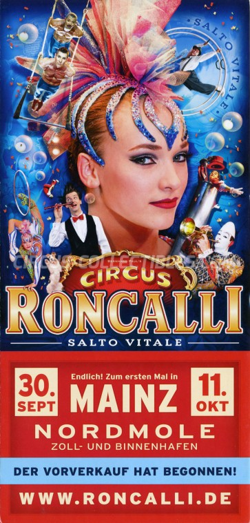 Roncalli Circus Ticket/Flyer - Germany 2015