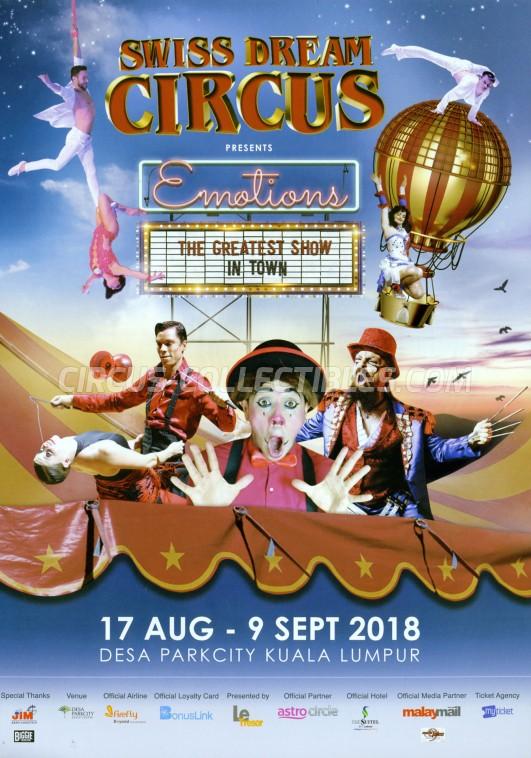 Swiss Dream Circus Circus Ticket/Flyer - Malaysia 2018