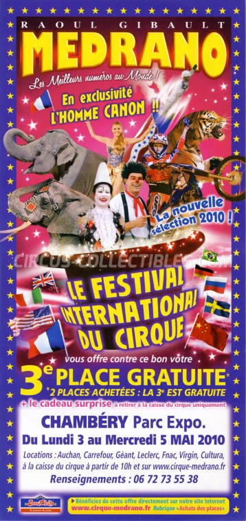 Medrano (FR) Circus Ticket/Flyer - France 2010