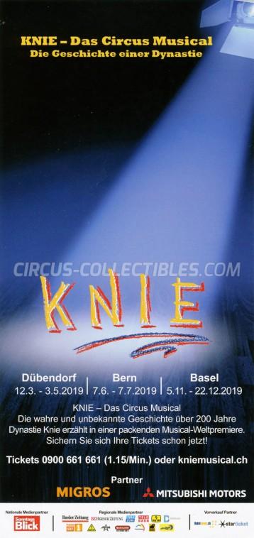 Knie Circus Ticket/Flyer - Switzerland 2019