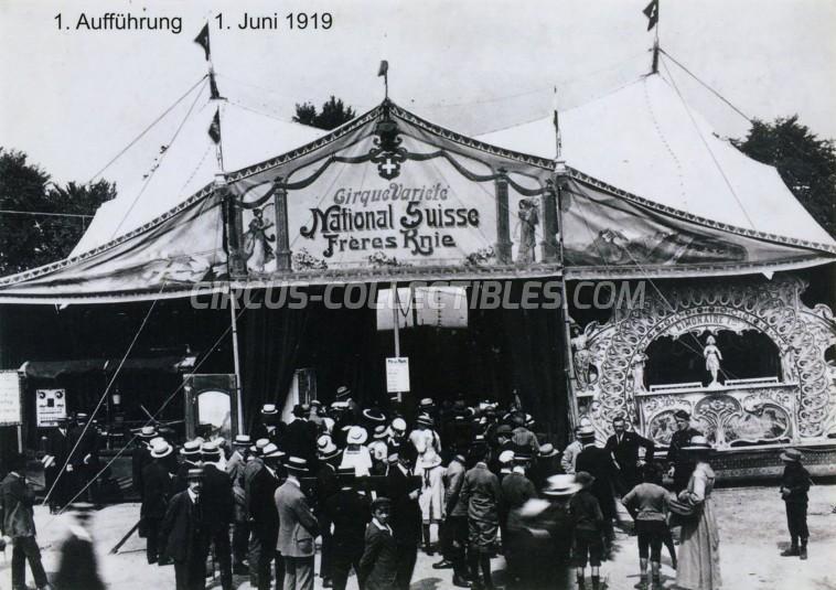Knie - Das Circus Musical Circus Ticket/Flyer - Switzerland 2019