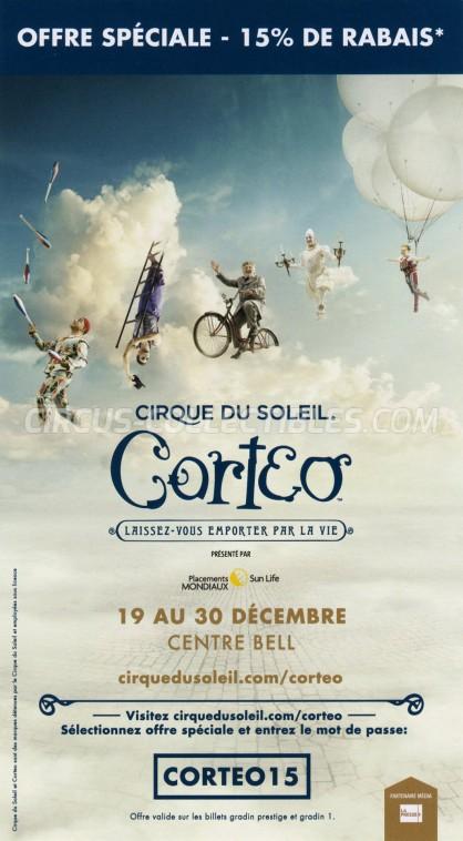 Cirque du Soleil Circus Ticket/Flyer - Canada 2018