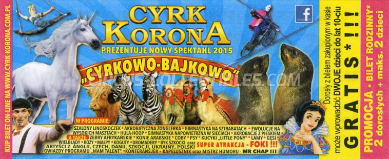 Korona Circus Ticket/Flyer - Poland 2015
