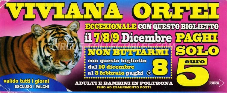 Viviana Orfei Circus Ticket/Flyer - Italy 2012