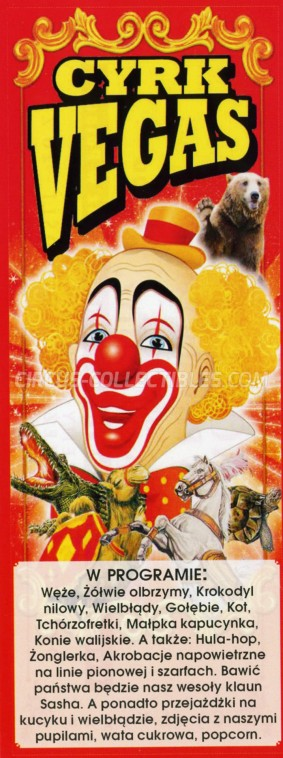 Vegas Circus Ticket/Flyer -  0