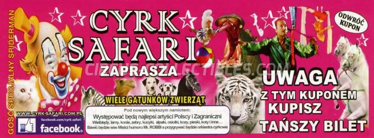 Safari (PL) Circus Ticket/Flyer -  0
