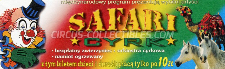 Safari (PL) Circus Ticket/Flyer -  0